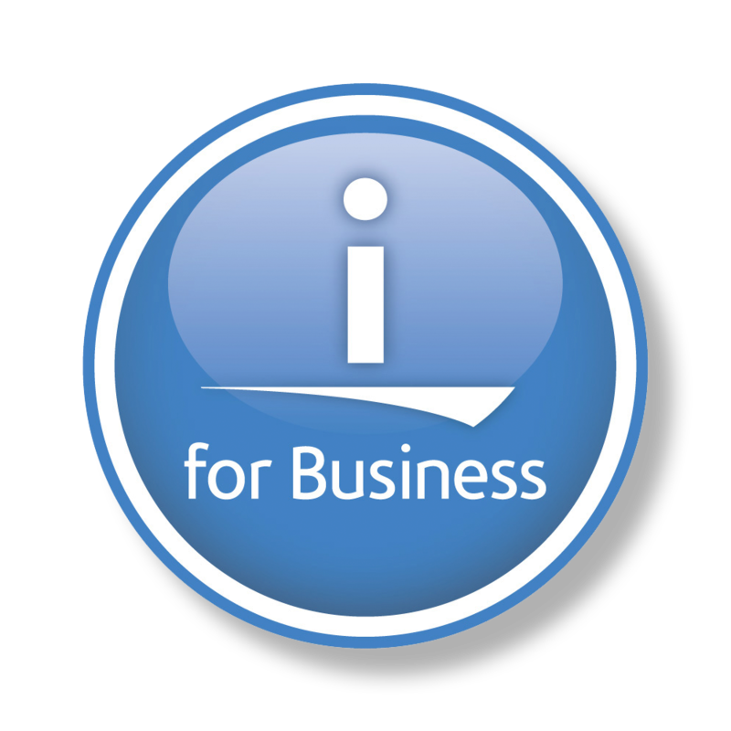 """i for business"" Logo"